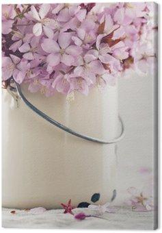 Canvastavla Körsbärsträd blommar