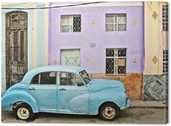 Canvastavla Kuba, La Habana, uppdelade Veteranbil