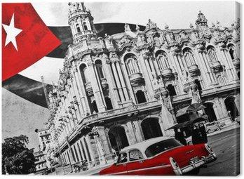Canvastavla Kuba (n & b)