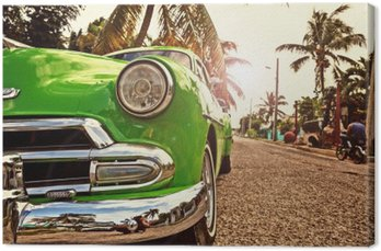 Canvastavla Kuba, Oldtimer i Havanna