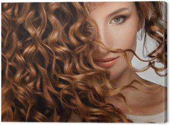 Canvastavla Kvinna med Beautifull hår