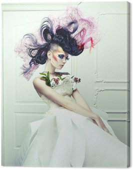 Canvastavla Lady med avant-garde hår