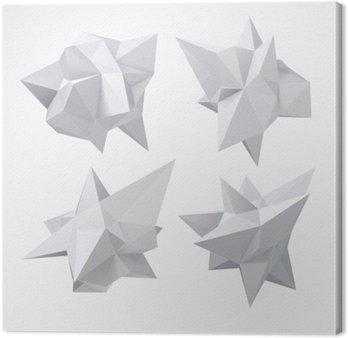 Canvastavla Låg polygon geometri form. vektor