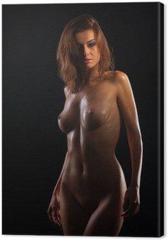 Canvastavla Lågmäld bild av sexig kvinna kropp