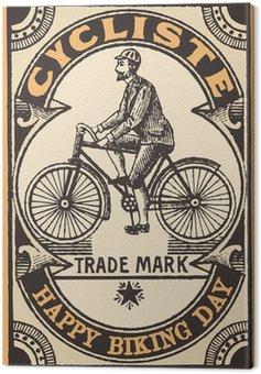 Canvastavla Le Cycliste