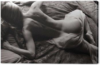 Canvastavla Liggande naken
