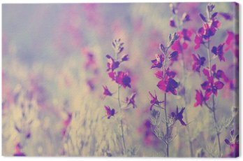 Canvastavla Lila vilda blommor