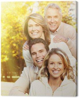 Canvastavla Lycklig familjeporträtt.