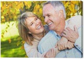 Canvastavla Lycklig pensionär för par.