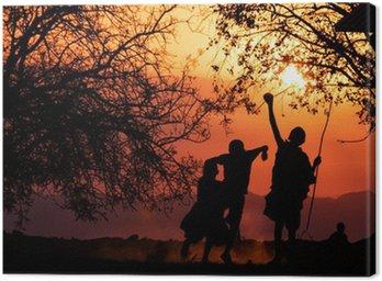 Canvastavla Maasai Barn Silhouette