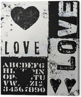 Canvastavla Målning med hjärta