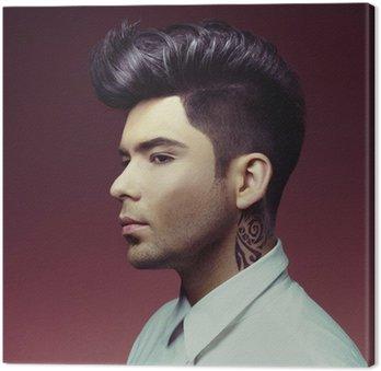 Canvastavla Man med snygg frisyr