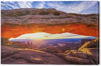 Canvastavla Mesa-båge på soluppgången