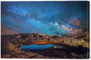 Canvastavla MiIlky Sätt över Mesa Arch