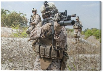 Canvastavla Militär operation