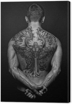 Canvastavla Moael med angel tattoo