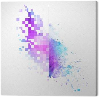 Canvastavla Modern vektor bakgrund med vattenfärg blot
