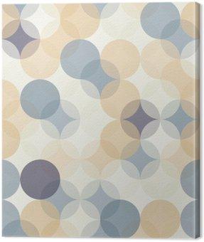 Canvastavla Modern vektor seamless färgrik geometri mönster cirklar, färg abstrakt geometrisk bakgrund, tapet print, retro textur, hipster modedesign, __