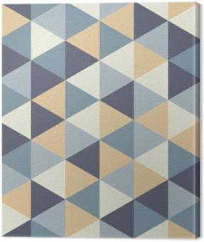 Canvastavla Modern vektor sömlösa färgrik geometri triangelmönster, färg abstrakt geometrisk bakgrund, kudde flerfärgad tryck, retro textur, hipster modedesign
