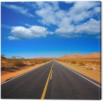 Canvastavla Mohave öknen från Route 66 i Kalifornien USA