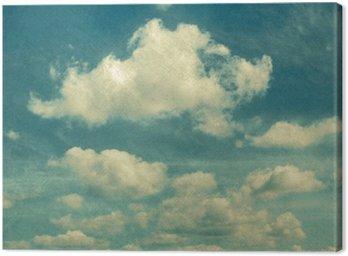 Canvastavla Moln i vintagestil. himmel med moln Stylized under gamla fotografier.