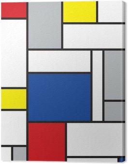 Canvastavla Mondrian inspirerad konst