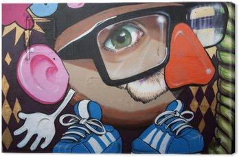 Canvastavla Monigote sv graffiti