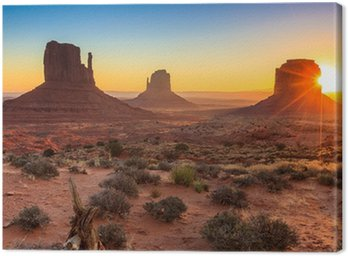 Canvastavla Monumentdal skymning, AZ, USA