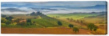 Canvastavla Morgondimma i Toscana