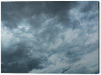 Canvastavla Mörka moln skrämmande