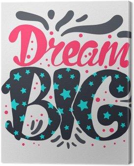 Canvastavla Motivation och Dream bokstäver Concept