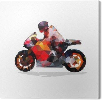 Canvastavla Motorcykel, abstrakt geometrisk vektor silhuett. motorcykel