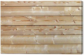 Canvastavla Mur de skid en madriers de bois blanc