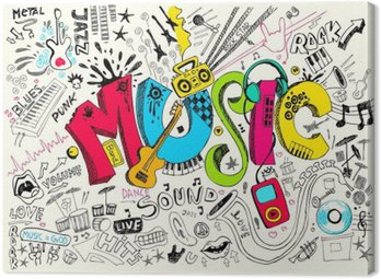 Canvastavla Musik klotter