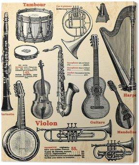 Canvastavla Musikinstrument