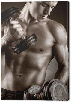 Canvastavla Muskulös man
