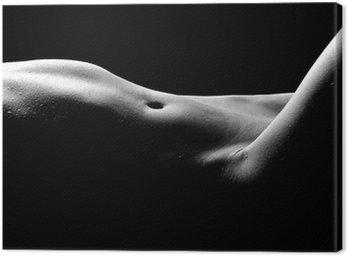 Canvastavla Naken bodyscape Bilder av en kvinna