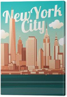 Canvastavla New York City Skyline