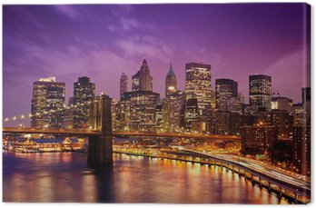 Canvastavla New York Manhattan Pont de Brooklyn