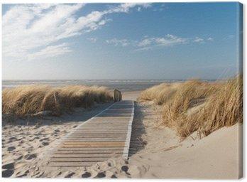 Canvastavla Nordsee Strand auf Langeoog