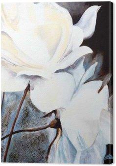 Canvastavla Ölbild: Weiße Rosen