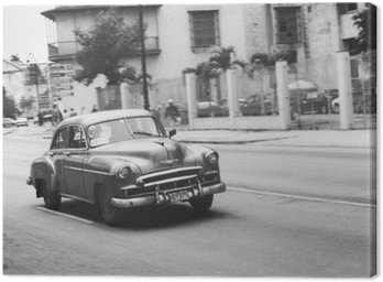 Canvastavla Oldtimer i Kuba