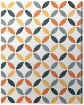 Canvastavla Orange geometriska Retro sömlösa mönster