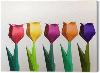 Canvastavla Origami Flowers
