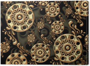 Canvastavla Ovanliga mönster bestående av flera små element