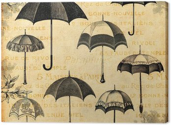 Canvastavla Paraply