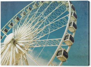 Canvastavla Pariserhjul retro