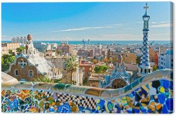 Canvastavla Park Guell i Barcelona, Spanien.