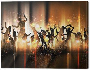Canvastavla Party Sound bakgrund Illustration med dansande människor