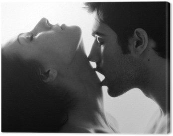 Canvastavla Passionate par i kärlek